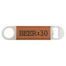 Custom Rawhide Laserable Leatherette Bottle Opener, 1 1/2
