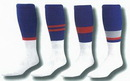 Custom Striped Football Tube Socks (10-13 Large)