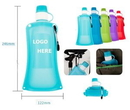 Custom Collapsible Water Bottle With Leak Proof Bottle, 9.7
