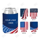 Custom Flag Design Sublimated Collapsible Can Cooler, 4