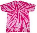 Blank Pink Twist Tye Dye T-Shirt