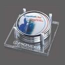 Custom Sherbrooke Coasters - Set of 4 (Sublim Silver), 5.5