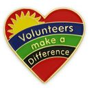 Custom Volunteers Make A Difference Lapel Pin, 7/8