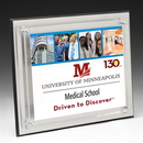 Custom Rectangle Brushed Aluminum Plaque - 4 Color Process (8
