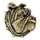 Blank Bulldog Mascot Fully Modeled 3 Dimensional Pin
