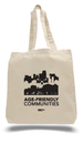 Custom Economical Tote Bag w/ Bottom Gusset (Printed), 15