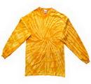 Custom Spider Gold Longsleeve Tye Dye Shirt