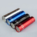 Custom 9 LED Aluminum Flash Light Includes Batteries, 3 1/4