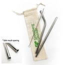 Custom Stainless Steel Straw Set 3pcs (for drinking smoothie), 8.5