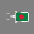 Key Ring & Full Color Punch Tag W/ Tab - Flag of Bangladesh