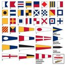 Custom Size 2 Code Signal Flag Set with Line & Toggle
