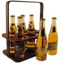 Custom Wood 6 Pack Beverage Carrier, 10 7/16