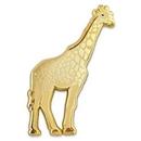 Custom Gold Giraffe Pin, 7/8
