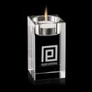 Custom Medium Clear Perth Candle Holder (3 1/2