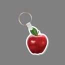 Key Ring & Full Color Punch Tag - Red Apple