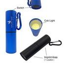 Custom Cob LED Flashlight With Carabiner, 3.5