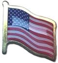 Custom Printed Flag Gold Plated Lapel Pins, 5/8