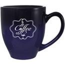 Custom 16 Oz., Bistro Feather Spray Mug Blue