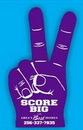 Custom Victory Foam Hand Mitt - (16