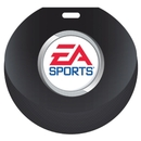 Custom Stock Hockey Puck Design Luggage Tag Full Color front imprint, Write-on ID panels on back, 4.813