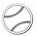 Custom Baseball Notekeeper Magnet- 35 Mil Process Color (3