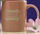 Custom 11 Oz. Orange Anchor Ceramic Mug