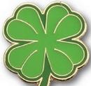 Custom Four Leaf Clover Stock Pin