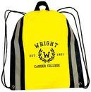 Custom Reflective Strip Cinch Bag w/ 1 Color