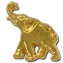 Custom Elephant 2 Lapel Pin, 1/2