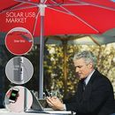 Custom Solar USB Market Umbrella