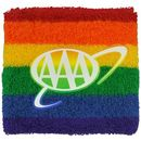 Custom Rainbow Wristband with 1-Color Heat Transfer or Printed Applique