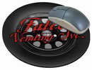 Custom Tire Stock Round Natural Rubber Mouse Pad (8