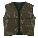 Custom Faux Brown Leather Western Vest w/ Fringe