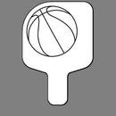 Custom Hand Held Fan W/ Basketball, 7 1/2