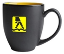 Custom 16 Oz., Hilo Bistro Mug (Matte Black/Yellow)