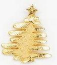 Custom Christmas Tree w/ Star Stock Cast Pin