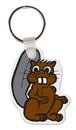 Custom Beaver 2 Animal Key Tag