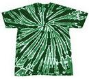 Blank Dark Green Twist Tye Dye T-Shirt
