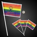 Custom Mini Rainbow Plastic Flags