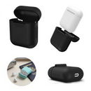 Custom Silicone Airpods Wireless Earphones Charging Case Cover, 2 1/8