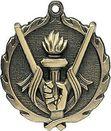 Custom Sculptured Victory Medal 1.75
