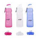 Custom 17OZ Silicone Collapsible Water Bottle, 9