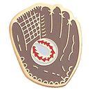 Blank Gold Enameled Chenille Letter Pin (Baseball Glove)