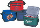 Custom Outdoor Poly 6 Pack Cooler Bag w/ Front Zipper & Mesh Pocket