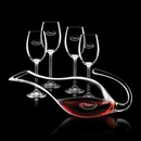 Custom 48 Oz. Reyna Crystalline Decanter W/ 4 Wine Glasses