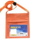 Custom Orange Single Pocket Nack wallet w/ Printed 3/8