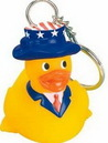 Custom Rubber Patriotic Duck Key Chain