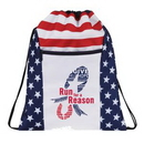 Custom Patriotic Drawstring Backpack, 13.5