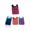 Custom Adhesive Silicone Phone Pocket for Cards/Cash (Full Color), 3 2/5