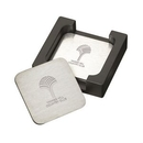 Custom The Throw 6pc Coaster Set - Stainless Steel, 5.375